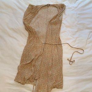 Yellow Brandy Melville Wrap Dress, One Size